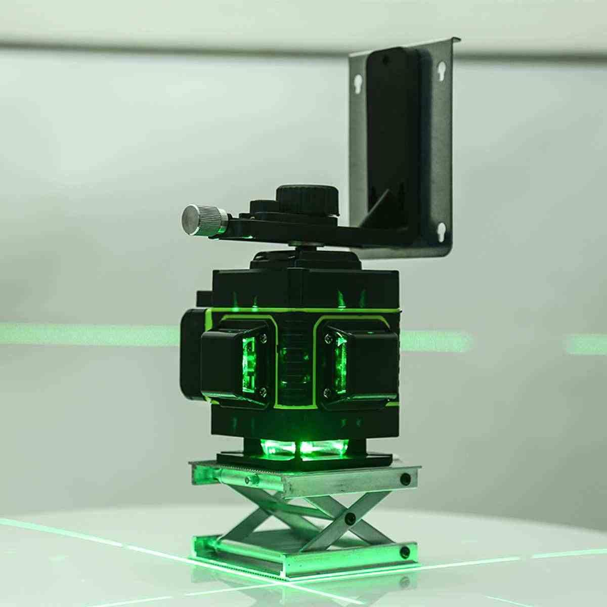 レーザーレベル 12 ラインレベル 3D 自己レベリング 360 度ロータリー水平と垂直クロスブルーレーザーレベルリモート制御