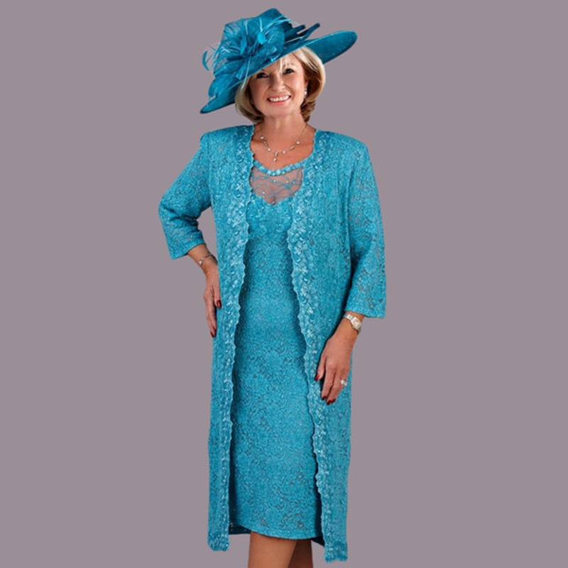 Turquoise Mother Of The Bride Dresses For Wedding With Jacket Plus Size Sequins Party Gowns Vestidos De Novia Madrinha Vestaglia