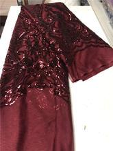 Модный дизайн нигерийские пайетки сетка из тюля ткань высокого