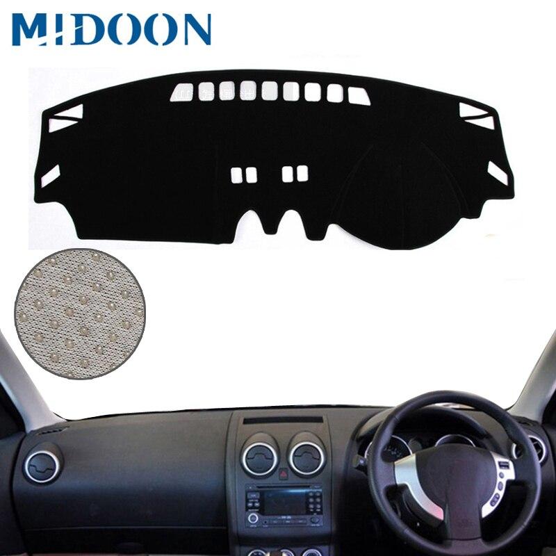 MIDOON For Nissan Qashqai Dualis J10 2006-2013 Car Styling Covers Dashmat Dash Mat Sun Shade Dashboard Cover Capter