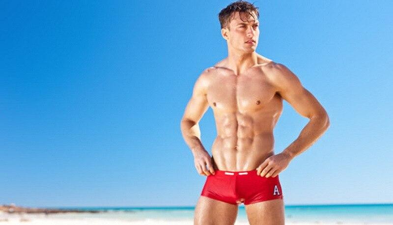 Austinbem AussieBum MEN'S Swimming Trunks Fashion Sexy Swimming Trunks A- Line Men's