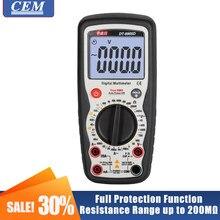 Multímetro digital professtional de alta precisão inteligente anti-queimadura backlight verdadeiro rms cem DT-8905D proteção completa manual