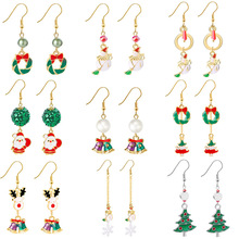 Creative Christmas Series Earrings Women Christmas tree snowman garland cute party earrings Europe and America selling