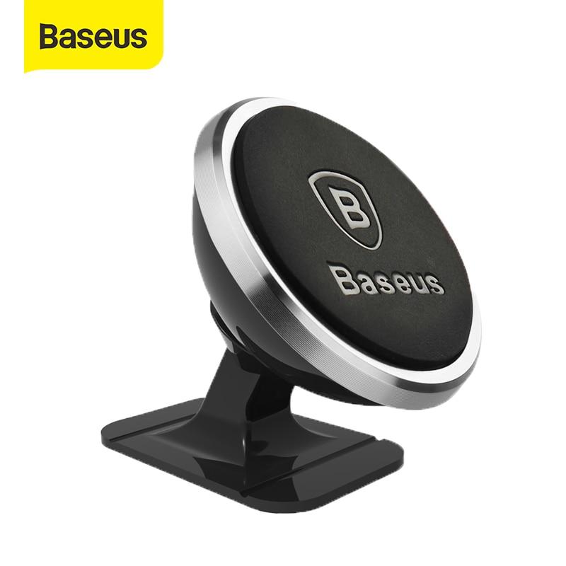 Baseus araba manyetik telefon tutucu standı desteği iPhone X Samsung için 360 derece mıknatıs cep cep akıllı telefon desteği GPS