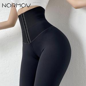 NORMOV High Waist Yoga Leggings Fitness Stretchy Sport Leggings Sports Gym Leggings Push Up Women Tights Yoga Pants Hot Solid