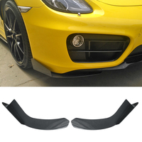 Front Bumper Spoiler Protector Plate Lip Body Kit Carbon Fiber Car Decorative Strip Chin Shovel For Porsche Cayman 718 719 987