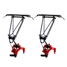 2Pcs/set 1:87 HO Scale Train Electric Traction Pantograph Train Arm Bow For Sand Table ModelModel Accessories