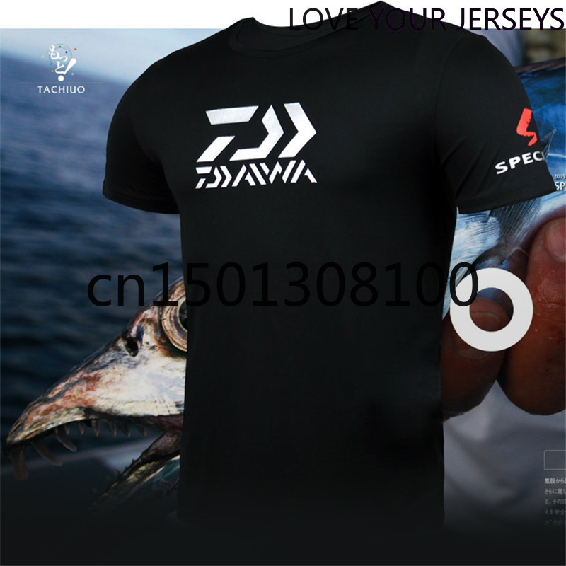 2020 Daiwa Clothing Male Brand Fishing Clothing Men Short Sleeve Outdoor Quick-Drying Breathable T-Shirt Sports Running Fishing