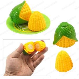 Image 3 - Mini légumes maïs fille personnage jouer cuisine jeu modèle ensemble coupe sécurité costume bricolage enfants noël cadeau jouets éducatifs