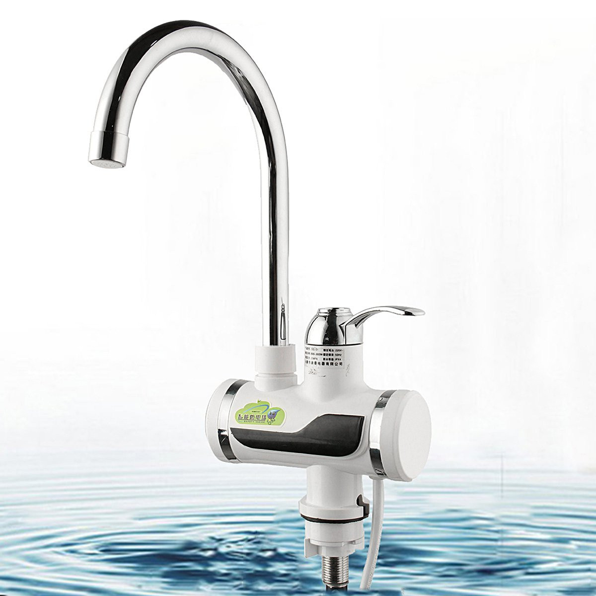 Electric Hot Faucet Water Heater Tap Temperature LED Digital Display Electric Instant Heating Kitchen Bathroom Tap Heater 220V