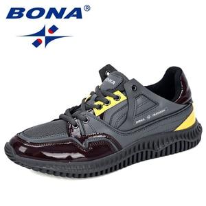 Image 5 - BONA 2019 새로운 디자이너 남자 신발 편안한 야외 캐주얼 남자 신발 레이스 업 쿠션 스 니 커 즈 남성 레저 신발 유행