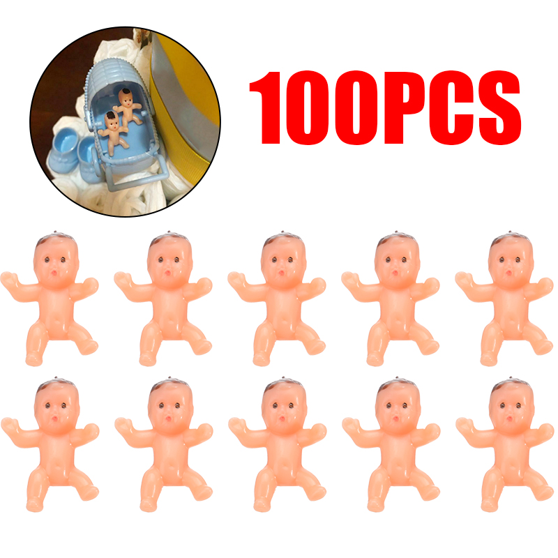 "100pcs 1"" Mini Plastic Baby Favor Supplies For Baby Shower And Ice Cube Game"