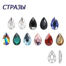 20 pièces AB Mix couleurs conseils ongles strass plat Pixie cristal goutte diamants 3D manucure Nail Art décoration bijoux à breloques