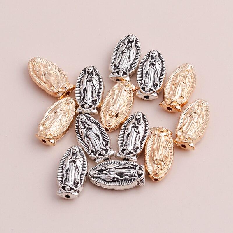 10 шт. 9*19 мм бусины из цинкового сплава Девы Марии Подвески кулон для DIY модное ожерелье ювелирные изделия браслет изготовление аксессуаров