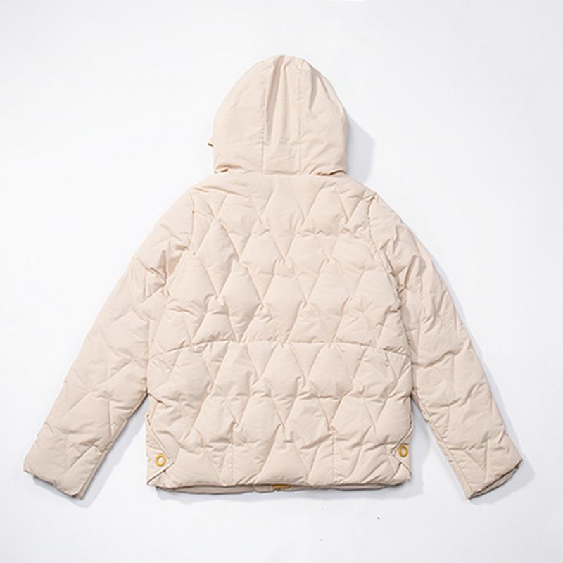 2019 Winter New Short Jacket Women Standing Collar Female Hooded Coat_A3_4