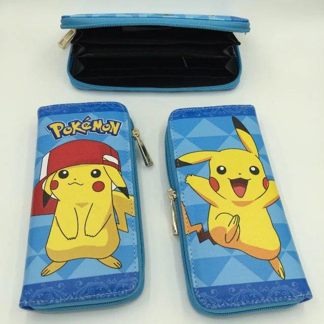 Kawaii Cartoon Pokemon Clutch Wallet Gift Kids Lovely Pikachu Long Card Holder Case Purse Leather Wallets