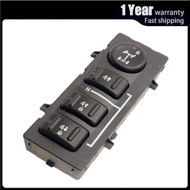 4WD 4x4 גלגל העברת מקרה בורר כפתור מתג דאש עבור האמר H2 2003 2007 19259310