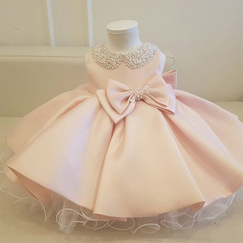 2020 Baby Girl Chlid Dress Ball Gown 1st Birthday Dress For Newborn Ceremony Princess Dress Party And Wedding 3 2 1 Year Dresses baby girl dress pink flower sleeveless ball gown princess wedding dresses girls baptism 1 year vestido infantil 6m 4y