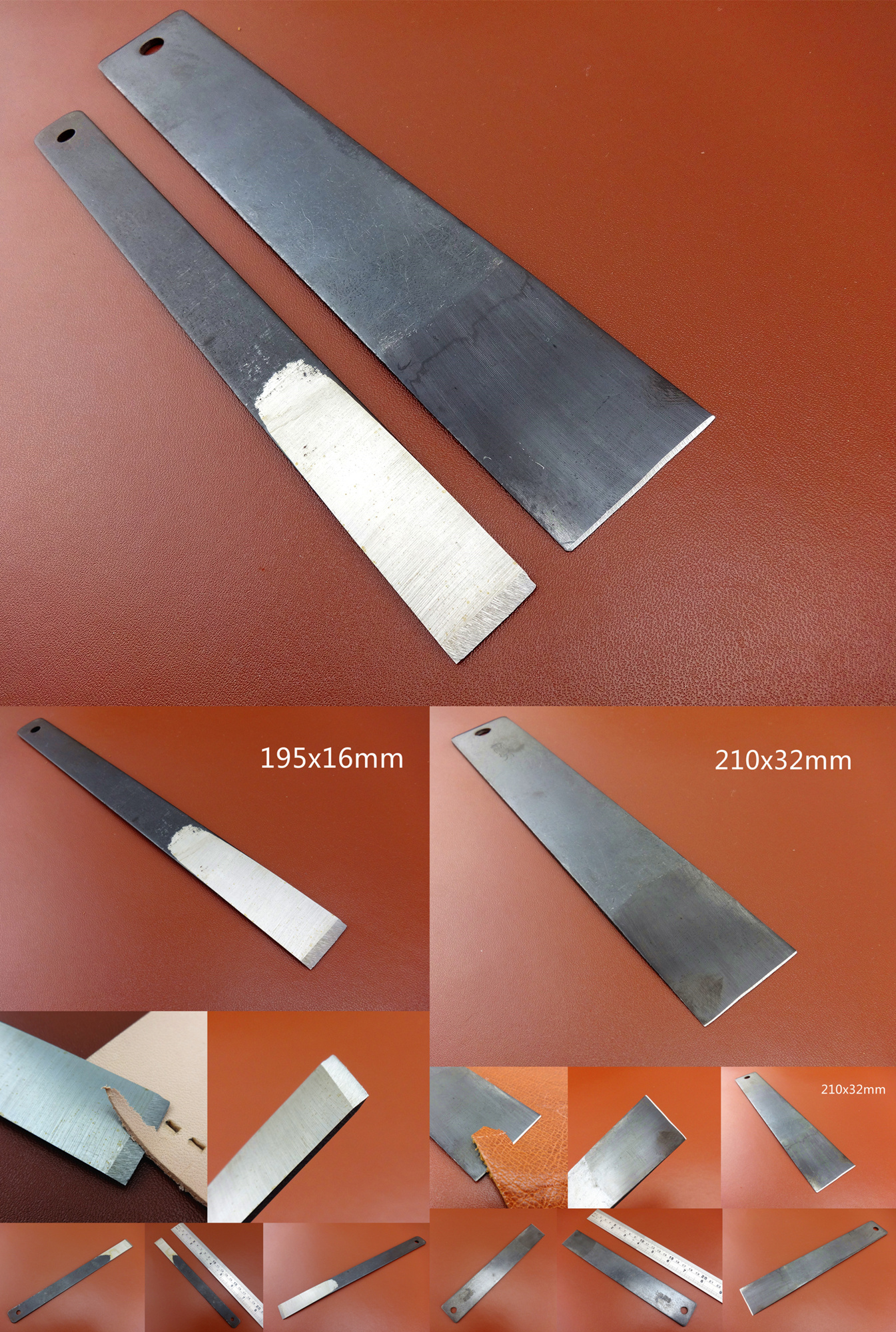 """Handmade Leathercraft Tool Oblong Slot Hole Punch for Leather 15mm 0.6/"""" Size 5"""
