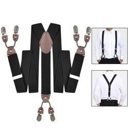 leather suspenders for men trouser straps braces belts