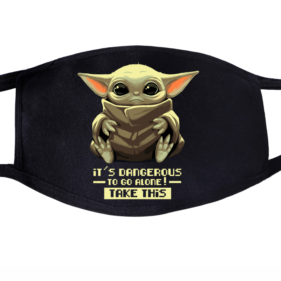 Baby Yoda The Mandalorian Dustproof Mouth Face Mask This Is The Way Star Wars Lovely Cute Unisex Cycling Anti-Dust Cover Masks
