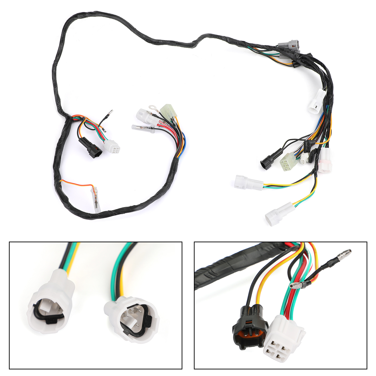 Artudatech Wiring Harness 3GG-10 COMPLETE fit for Yamaha Banshee 350 YFZ350 2002 2003 2004 2005 2006 5FK-82590-00-00 Motor Parts