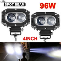 CO LIGHT 4 96W Super Bright Offroad LED Work Light Bar Spot Flood Beam DRL 4x4 LED Light ATV LED Bar For Jeep 4WD Truck Car SUV