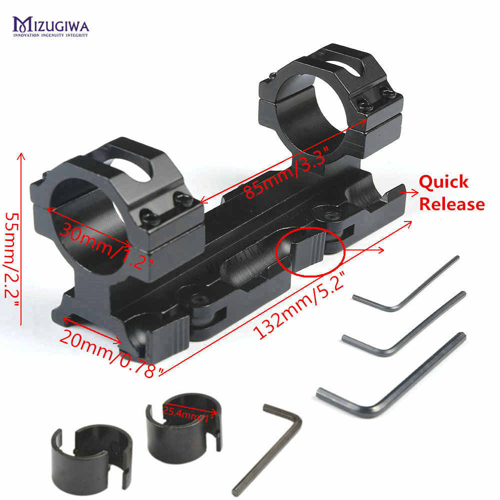 "AR 15 Bereich-einfassung 1 "" / 30mm Ring Cantilever Tactical Heavy Duty Flache Top Offset QD Picatinny Schiene 20mm Adapter Weaver Laser"
