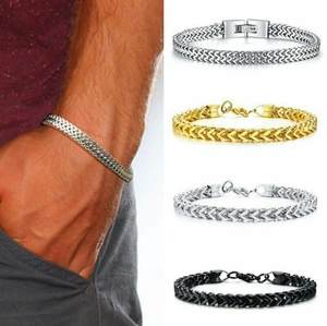Fox-Tail-Bracelet Double-Chain Stainless-Steel Silver Men's Fashion Hot