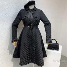 Размера плюс зимнее платье для женщин 2020 осень Легкая стеганая