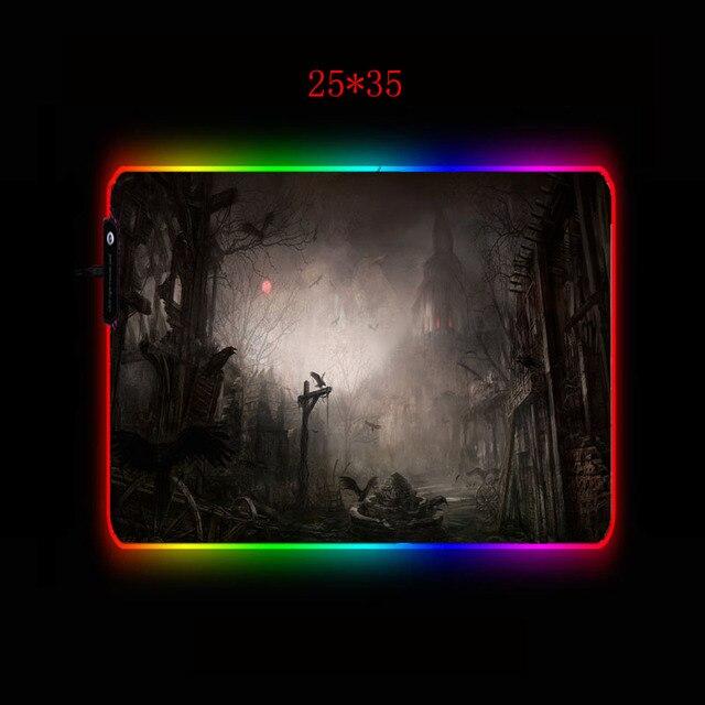 игровой коврик для мыши mairuige fantasy landscape rgb геймера фотография