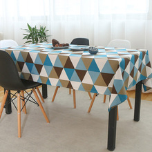 Table-Cloth Manteles Geometric Home-Decorative Plaid Toalha-De-Mesa Adiabatic