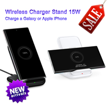Original Samsung Wireless Charger Stand Fast Qi Charge For Samsung Galaxy S20/10/S9/S8 Plus/S7 Note10+/iPhone 11 Plus X,EP-N5200 original samsung 25w fast charge wall charger ep ta800 for samsung galaxy note10 note10 plus s10 5g a60 a70 a80 25w fast charge