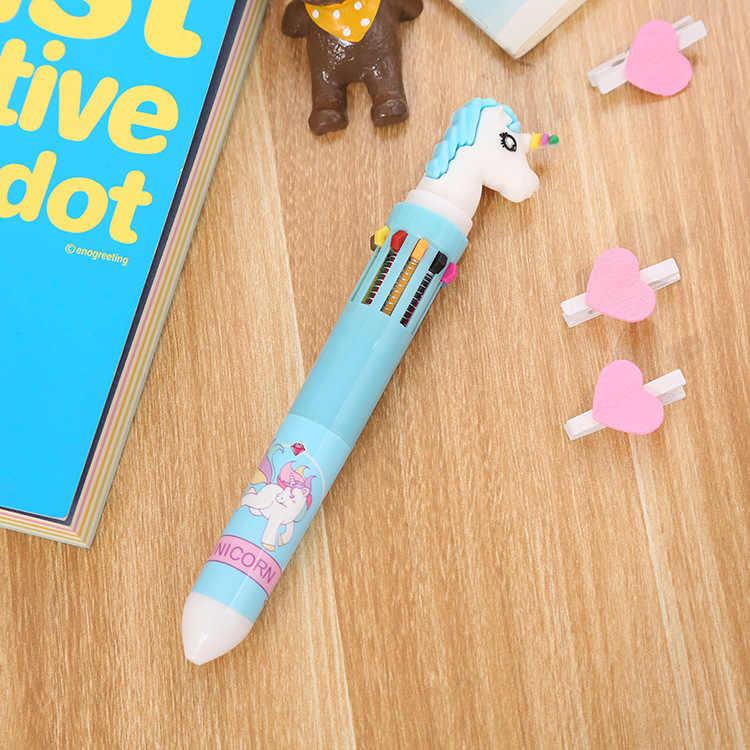 12 ชิ้น/เซ็ตกล่องปากกา 10 สีปากกาลูกลื่นปากกา Graffiti ปากกาขายส่ง Multi-สีกดปากกาลูกลื่นปากกาปากกาปากกาขายส่ง