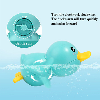 Mainan Clockword Swimming Duck Mengapung 2