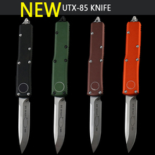 KAK UTX-85 knife CNC D2100% Blade Anodizing 6061-T6 aviation aluminum alloy handle Survival Pocket Knives EDC fruit knife