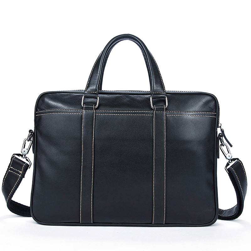Men's Briefcase 100% Genuine Leather Laptop Bag Men Office Bag For Men's Briefcase Handbag For Document Business Computer Bag