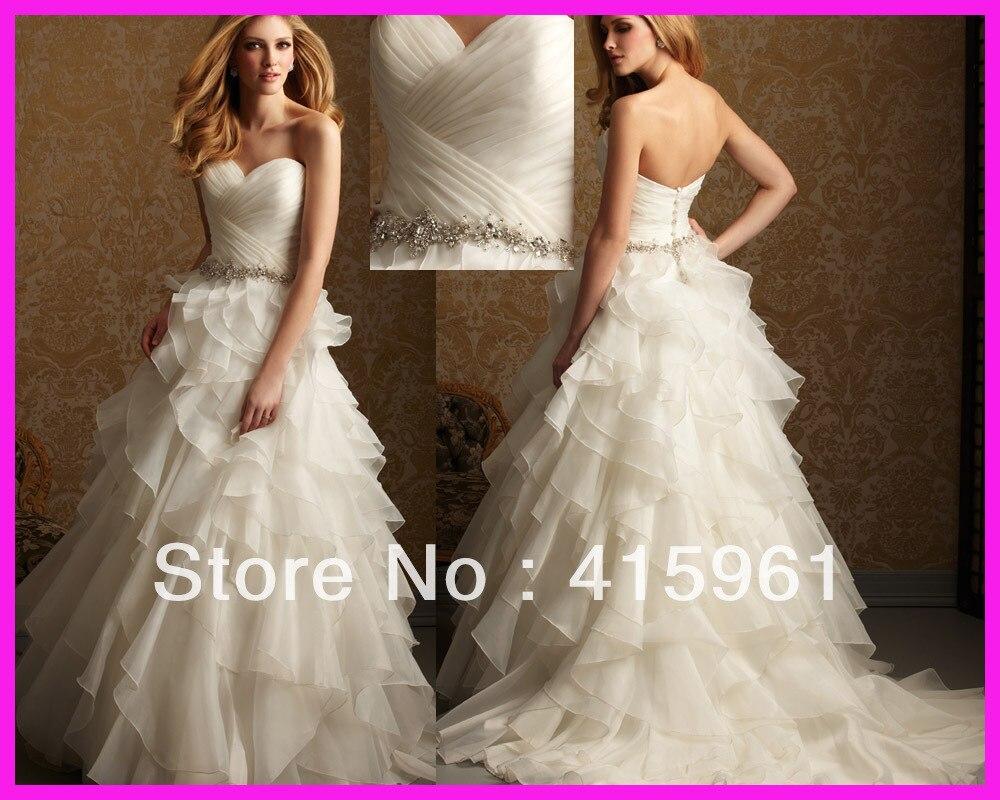 Free Shipping Bride Dress Robe De Mariee Sweetheart Organza Ruffles Ball Gown Wedding Dress Floor Length 2019 Vestido De Noiva