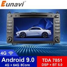 Eunavi 2 Din Octa Core 8'' Android 9.0 Car DVD GPS For Mercedes/Benz C Class W203 2004-2007 C200 C230 C240 C320 C350 CLK W209 04 цена 2017