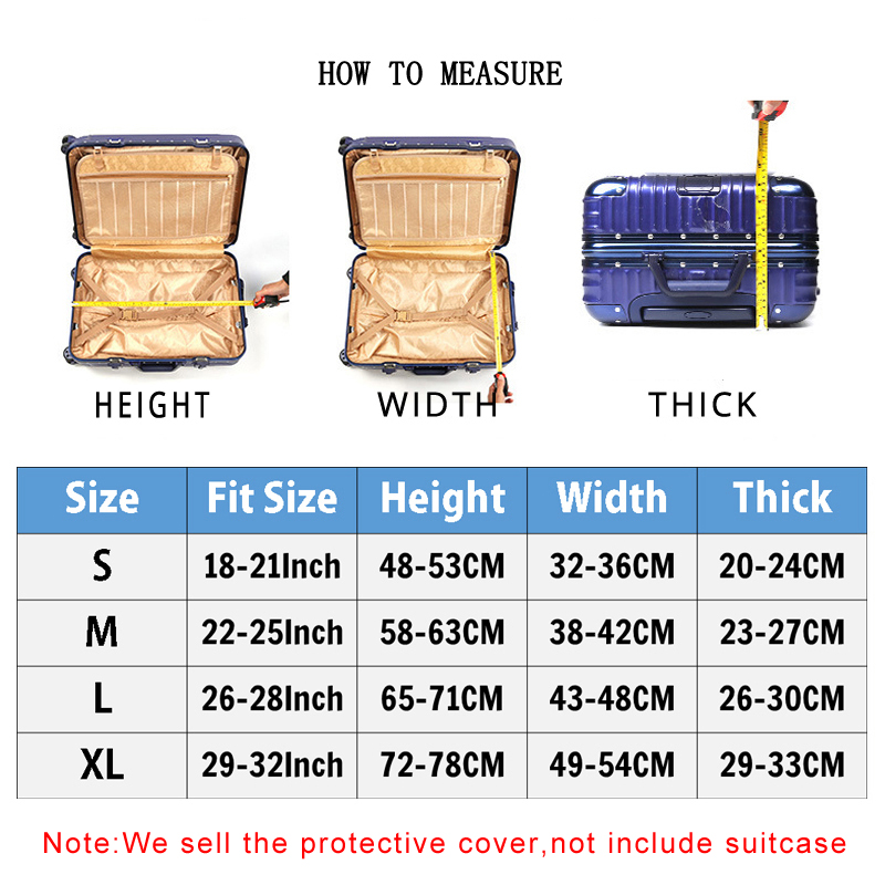 Image 2 - Thick Elastic Geometric Luggage Protective Cover Fashion Men's Women's Case Suitcase Trolley Baggage Travel Bag Cover 273-in Travel Accessories from Luggage & Bags