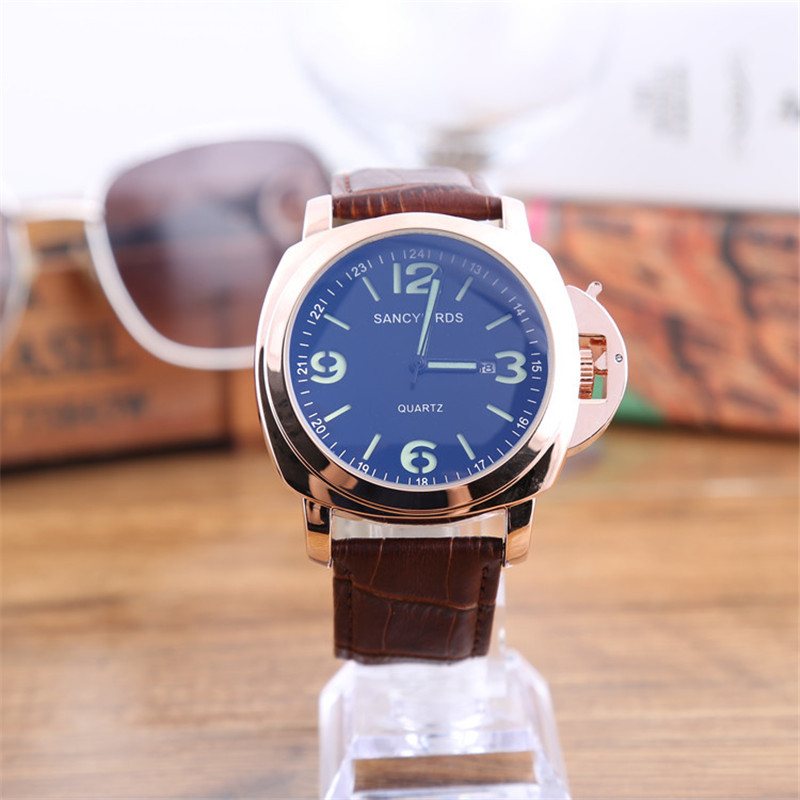 SANCYBIRDS. Men's Watches Luxury Military Luminous Casual Wristwatch Fashion Leather Waterproof Watch Relogio Masculino