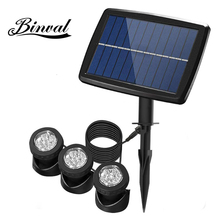 Binval Solar Led Underwater Lights Waterproof IP68 Spot Light Lawn Lamp For Swimming Pool Fountains Pond Outdoor Garden Decor