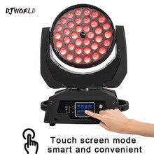 Светодиодный движущаяся головка RGBWA + с УФ зумом 36x18 Вт, 6 в 1, Светодиодный прожектор для мытья DMX512, Прямая продажа с фабрики, сценическое освещение для дискотек, вечерние ночники