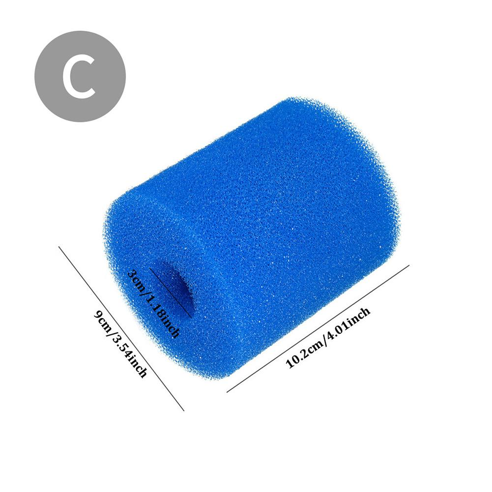 GIlH Reusable Washable Swimming Pool Filter Foam Sponge Cartridge for Intex Type H