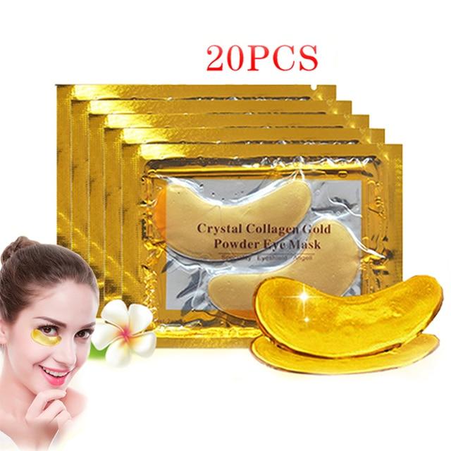 Innicare 20 pçs cristal colágeno ouro máscara de olho anti-envelhecimento círculos escuros acne beleza remendos para cuidados com a pele dos olhos cosméticos coreanos 1