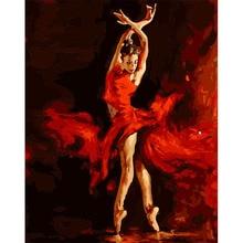 цена на 100% Full 5D Diy Daimond Painting Ballet dancer 3D Diamond Painting Round Rhinestones Full Diamant Painting
