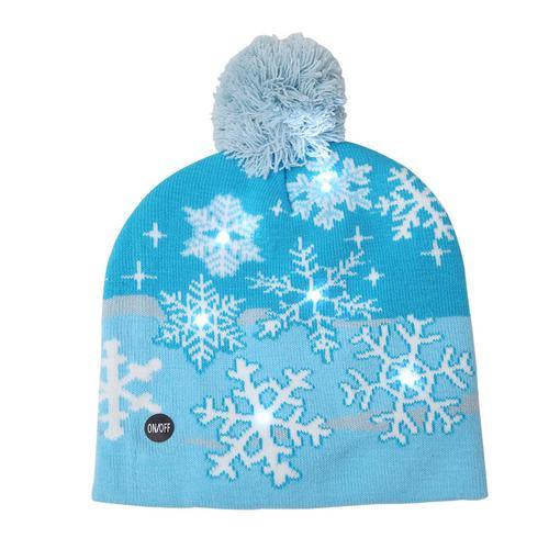 Г., 43 дизайна, светодиодный Рождественский головной убор, Шапка-бини, Рождественский Санта-светильник, вязаная шапка для детей и взрослых, для рождественской вечеринки - Цвет: 25