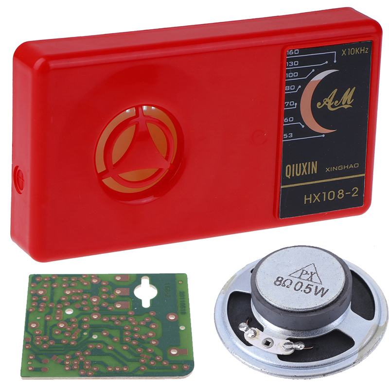1 Set 7 Tube AM Car Radio Electronic DIY Kit For Car Radio Cassette Electronic Learning Kit HX108-2