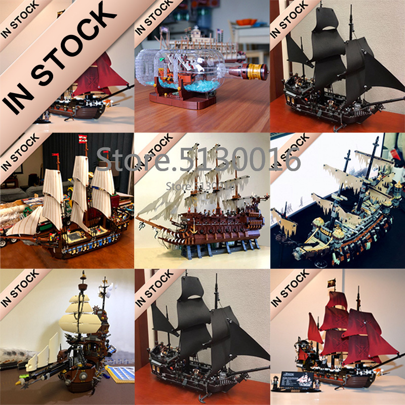 In Stock Pirates Of The Caribbean Ship Ideas Model Building Blocks Bricks 16002 16006 16009 16016 16042 16051 22001 Toys