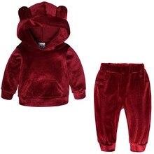 Suit Coat Pants Jacket Hooded Velvet Toddler Baby-Boys-Girls Kids Children